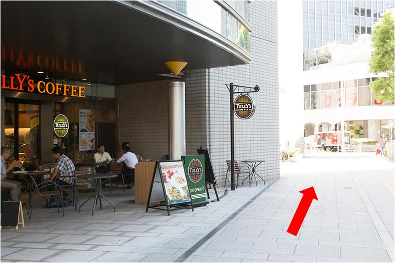 3. TULLY'S COFFEEさんが目印